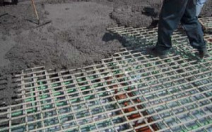 Glass FRP rebar used  in a reinforced concrete bridge deck