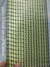 Carbon and Kevlar woven prepreg strap