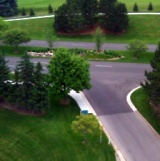 landscaped intersection