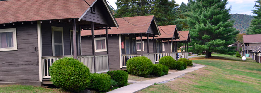 Cabins in a row