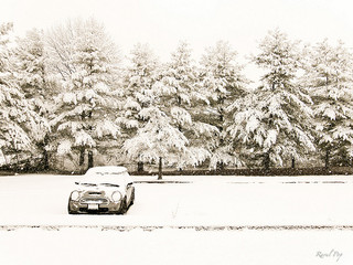 snow covered parking lot