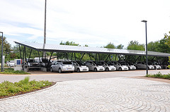 parking lot solar panels